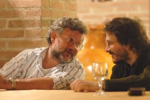 Pierluigi Cappello (dx) con Maurizio Casagrande